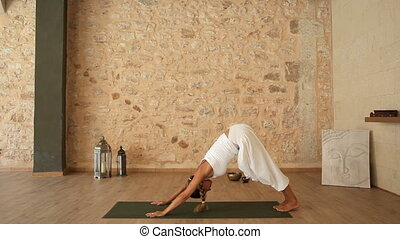Woman doing a yoga exercise