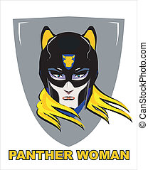 woman., donna, superhero, pantera