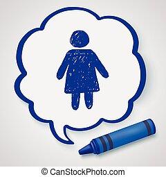 woman doodle