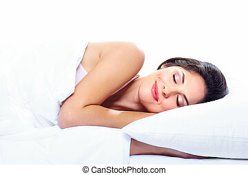 woman., dormir