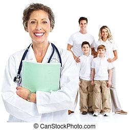 woman., doutor familiar