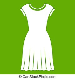 Woman dress icon green