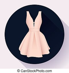 woman dress icon vector