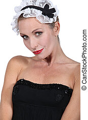 Woman dressed as a maid