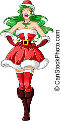 Woman Dressed In Sexy Santa Clothes For Christmas 2