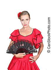 Woman dressed in Spanish attire