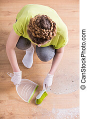 Woman during housework