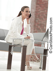 woman employee working in the office
