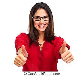 woman., empresa / negocio, feliz