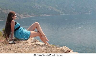 woman enjoying the sea view