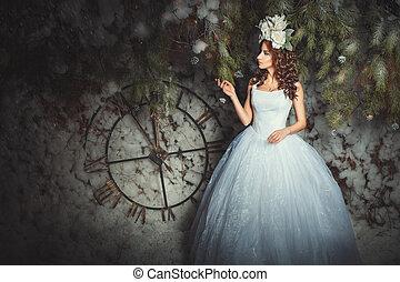 woman., erdő