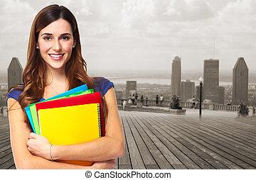 woman., estudante