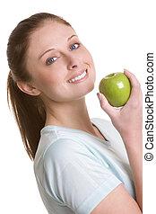 woman eszik, alma