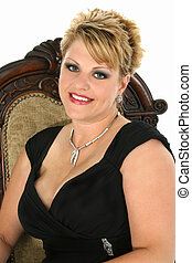 Woman Evening Wear - Beautiful 35 year old woman in formal...