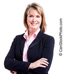 woman., executivo, negócio