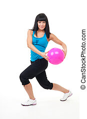 Woman exercise with ball