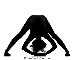 woman exercising fitness yoga stretching