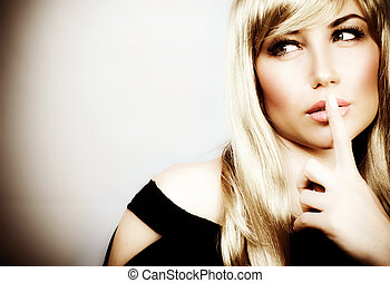 Woman expressions hush - Photo of attractive woman ...