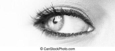 Woman eye macro shot