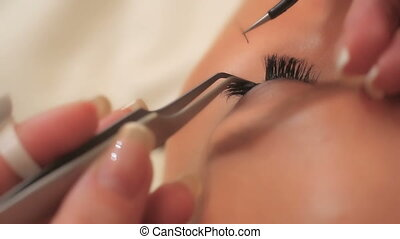 Woman Eye with Long Eyelashes. Eyelash Extension. Lashes,...