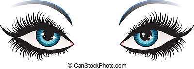 Woman eyes - Illustration of woman eyes with long eyelashes.