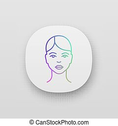 Woman face app icon