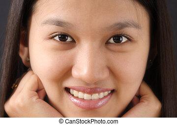 Woman face - Close-up woman face