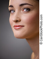 Woman face closeup