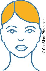 Woman face color icon