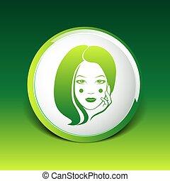 Woman face fashion girl beauty illustration vector