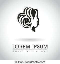 woman face logo