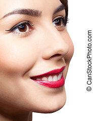Woman face make-up
