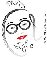 Woman face My cool style