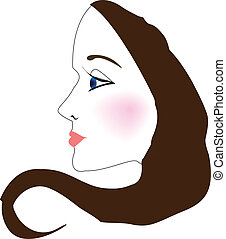 Woman Face Profile Vector