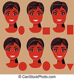 woman face shape types - Very high quality original trendy...