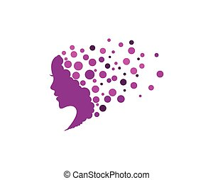 Woman face silhouette character