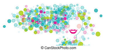 Woman face silhouette for your design