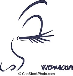 woman face style draw