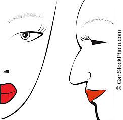 Woman face
