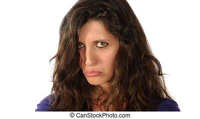 woman, facial expressions sadness