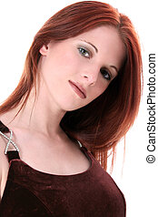 Woman Fashion - Close Up of a Beautiful Seventeen Year Old....