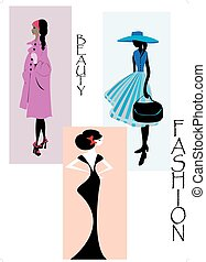 Woman fashion design. Vector illustration