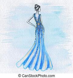 Woman fashion drawing