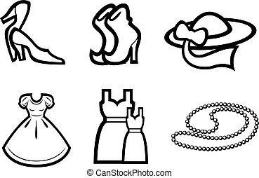 Woman fashion elements