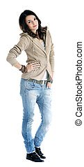 woman fashion isolated