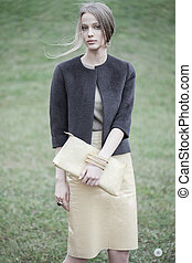 fashion model outdoor portrait