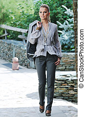 woman fashion outdoor