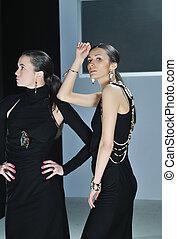 woman fashion show