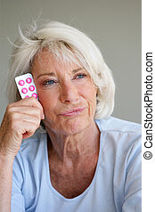 Woman fed up with taking her medication