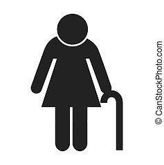 woman figure avatar isolated icon design